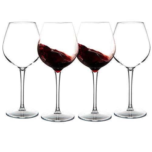 MICHLEY Incassable Verres à vin, 100% Tritan-Plastique vin Rouge Gobelets,500ml Verres à Boire pour Le Parti, Lot de 4