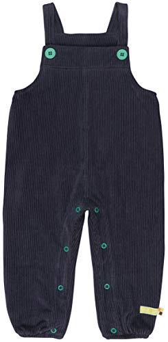 loud + proud Baby-Unisex Elastische Cord Bio Baumwolle, GOTS Zertifiziert Latzhose, Blau (Midnight Mi), 68 (Herstellergröße: 62/68)