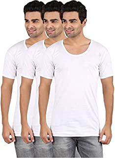 RVB Fashions Men's Cotton Half Sleeve Vest (Pack of 3)
