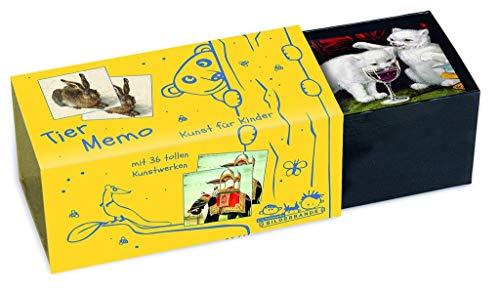 Tier-Memo: Kunst für Kinder. Gedächtnisspiel mit 36 Motiven berühmter Maler
