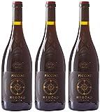 Piccini Memoro Vin Rouge d'Italie 0,75 L - Lot de 3