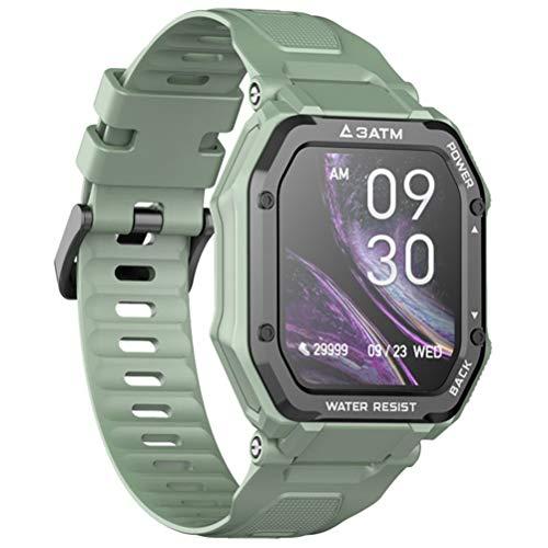 HJKPM C16 Smartwatch, 1,69 Pulgadas Podómetro De Frecuencia Cardíaca Salud IP68 Reloj Inteligente A Prueba De Agua para ECG PPG HRV Monitoreo del Sueño,Verde