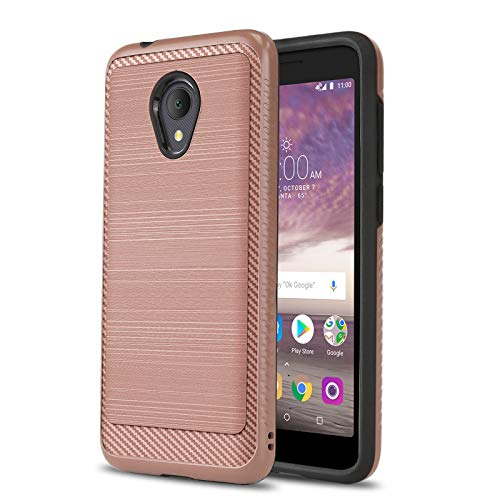 Schutzhülle für [ALCATEL TCL LX (A502DL)], [Modern Series] Stoßfeste Schutzhülle [Defender] für Alcatel TCL LX (Tracfone, Simple Mobile, Straight Talk, Total Wireless), Rose Gold
