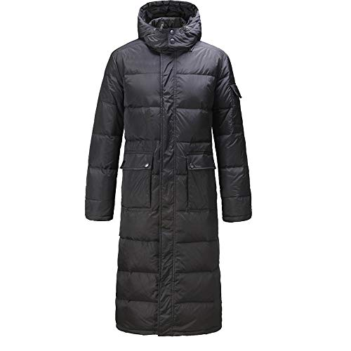 Lazzboy Unisex Womens Mens Coat Puffer Quilted Cotton Padded Plain Long UK 10-18(M(10),Black)