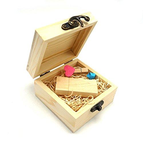 LUCKCRAZY - Memoria USB 2.0 para Pulgar Wooden USB Flash 16 GB