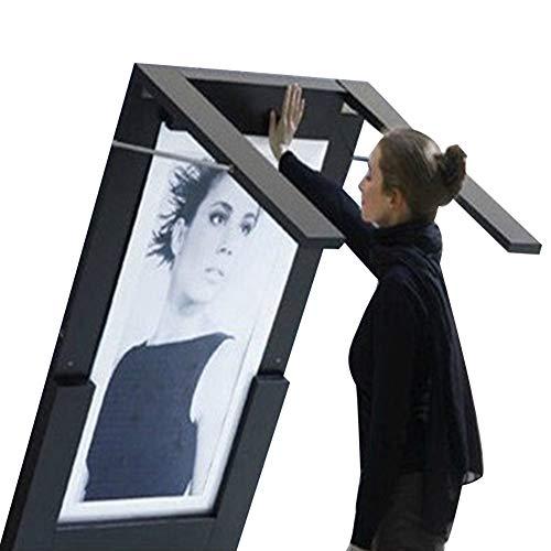 PENGFEI Tische Wandtisch Wand-Klapptisch Multifunktion Möbel Stehtisch Kreativ Platz Sparen, 2 Farben (Farbe : SCHWARZ, größe : 74x45CM)