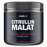 sinob L-Citrullin Malat Pulver Hochdosiert Vegan 1x 300g - 100% reines Citrullin Malat 2:1 Made in Germany. Glutenfrei, Laktosefrei und Perfekt Für Fitness, Bodybuilding und Kraftsport -