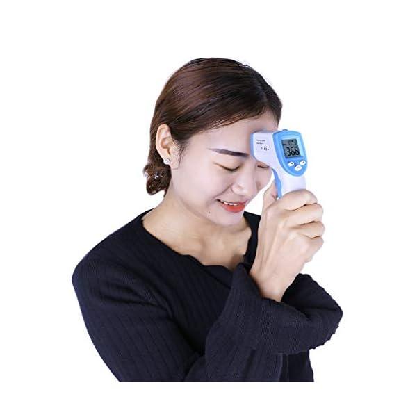 Mentin Term/ómetro Frontal Infrarrojo Digital Sin Contacto para Beb/é Ni/ño Adulto Sin Contacto Digital Profesional Preciso Term/ómetro Infrarrojo azul azul Talla:138x65x37mm