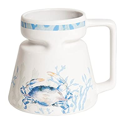 Blue Crab Wide Bottom Ceramic To Go Mug