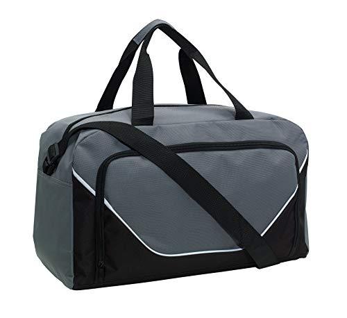 Preiswert&Gut Sporttasche 48x22x28cm Fitnesstasche 410Gr Umhängetasche (Grau)