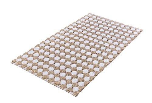 Kleine Wolke Badteppich, Taupe, 70 x 120 cm