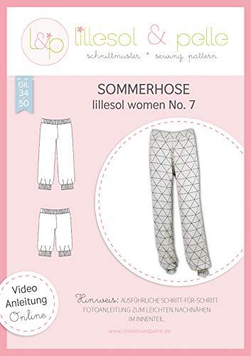 lillesol & pelle Schnittmuster lillesol Women No.7 Sommerhose in Größe 34-50 zum Nähen mit Foto-Anleitung und Video
