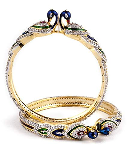 YouBella Ethnic Bollywood Gold Plated Traditional Indian Bracelets Bangles Jewellery for Women and Girls (6)