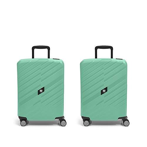 Gabol - Sendai | Green Rigids Travel Suitcase Set with 2 Cabin Suitcases