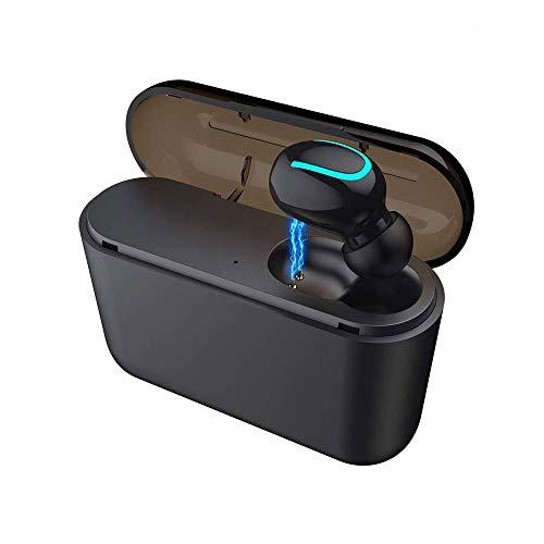 QCHEA Auricular inalámbrico Bluetooth, Auriculares inalámbricos, la Carga de la Caja con conexión magnética for el Senderismo, Conduciendo, Corriendo, Ejercicio, etc.