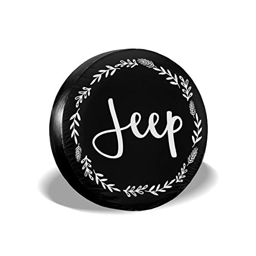 Jeep Floral Personalized Tire Cover Wheel Tire Cover Fit for Jeep Wrangler Camper 17' for Diameter 31'-33'