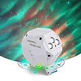 Poeland LED Aurora Projektor Nachtlicht und grüne Sterne Lichter mit Musik Lautsprecher