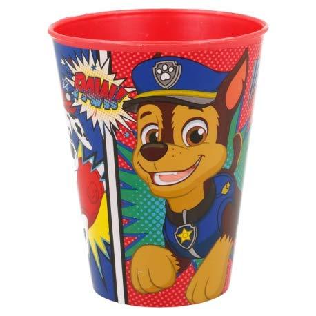 ILS I LOVE SHOPPING Lot de 2 verres pour enfant 260 ml en plastique sans BPA/cadeau pour garçons (Pat' Patrouille rouge, lot de 2)