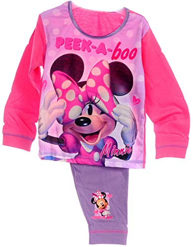 Pyjama Schlafanzug Minnie Mouse Baby Kinder Set 80 86 92 98 104 110 Hose Disney (4-5...