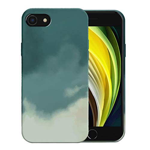 Funda para iPhone 7/7 Plus Apple Case,Fundas iPhone 7/7 Plus De Líquida Silicona TPU Antigolpes Flexible Fundas,Cubierta a Prueba De Golpes con Forro De Microfibra (Verde, iPhone 7)