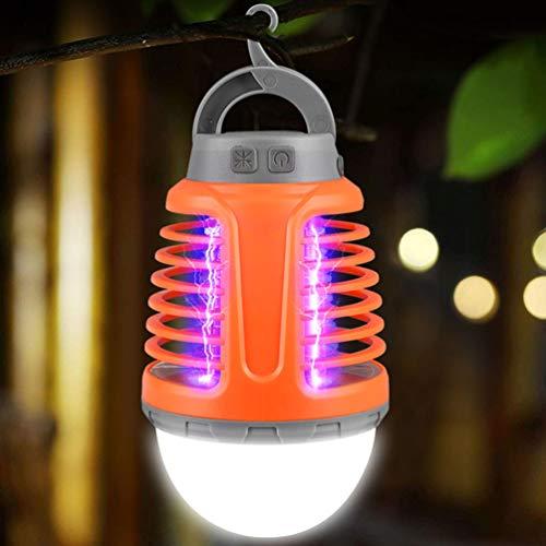 OSALADI 2 en 1 Bug Zapper tienda de campaña luz resistente al agua recargable mosquitos Killer lámpara lámpara de camping linterna portátil para exterior interior camping emergencia