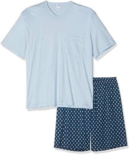 Calida Herren Relax Streamline 4 Zweiteiliger Schlafanzug, Blau (Blue Wing Teal 517), X-Large (Herstellergröße: XL)