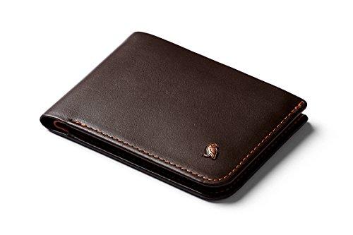 Bellroy Hide & Seek Wallet, Portafoglio sottile in pelle con doppia piega, protezione RFID disponibile, tasca nascosta (Max. 12 carte, contante, tasca per monete) - Java