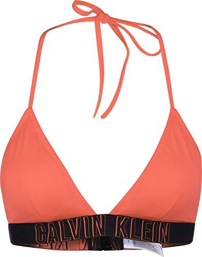 Calvin Klein Fixed Triangle Bikini Top Large Flamingo