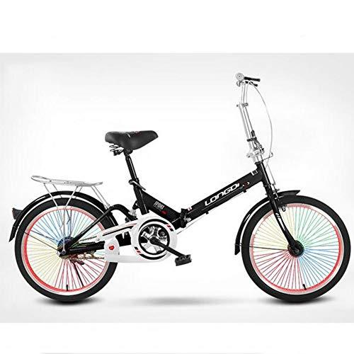 WPY Bicicleta Plegable de Aluminio de 20 Pulgadas, Cambio de 6 Velocidades...