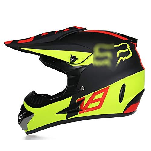 TR-yisheng Motocross-Helm mit Schutzbrille + Handschuhen + Maskenset. Die...