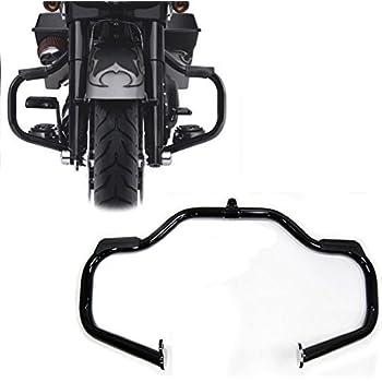 HTTMT EG03- Black Engine Guard Crash Bar Compatible with Harley Touring 2009-2017(Aftermarket 49155-09A)
