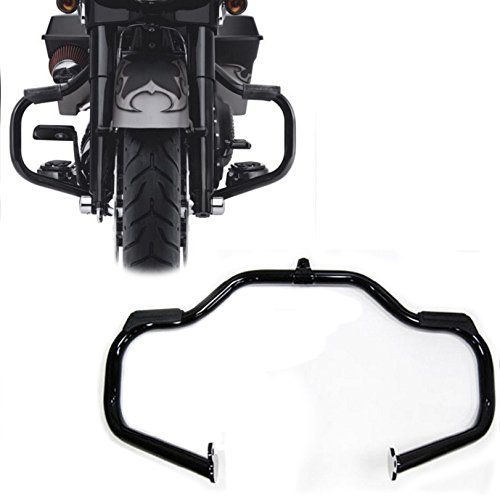 HTTMT EG03- Black Engine Guard Crash Bar Compatible with Harley Touring 2009-2017(Aftermarket 49155-09A)
