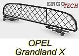 ERGOTECH Divisorio Griglia Rete Divisoria per Opel Grandland X, RDA65-XXS16, per Trasporto Cani e Bagagli