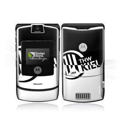 DeinDesign Folie kompatibel mit Motorola RAZR V3i Aufkleber Skin aus Vinyl-Folie Handball THW Kiel Fanartikel