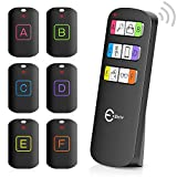 Key Finder, Esky 98ft Working Range Remote Finder with 6 Receivers-85db Sound Beep Key Tracker for Finding Key Wallet Pet, Key Finder Locator with Stickers, Key Ring and Receiver's Batteries