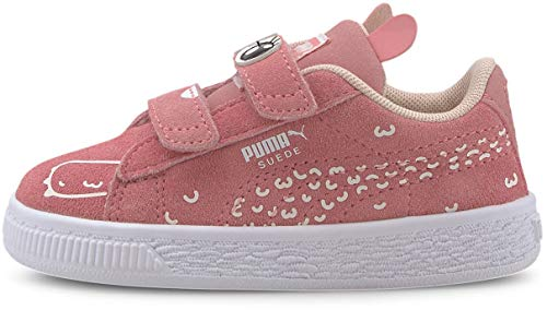 Puma - Infants Suede Monster Family Shoes, Size: 7 M US Toddler, Color: Peony/Puma White