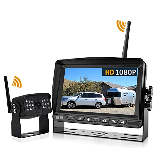 Wireless Backup Camera, DOUXURY 170° Wide View 1080P HD IP69 Waterproof Night Vision Backup Camera + HD 7
