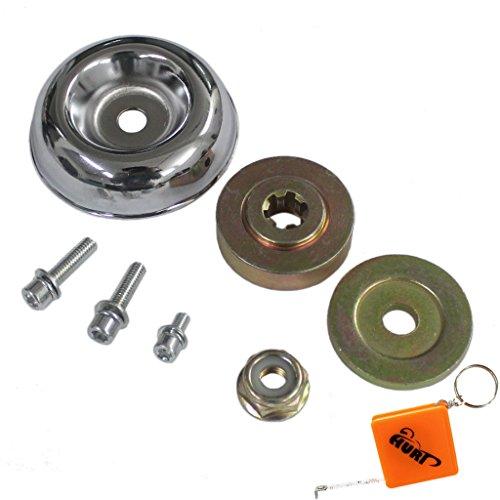 HURI 7 TLG. Schrauben Set für Winkelgetriebe Getriebe Motorsense Freischneider zb. Fuxtec Timbertec Stenson Rotfuchs Tarus