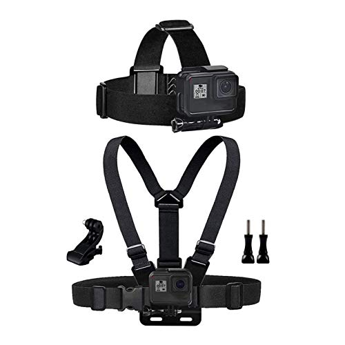 Chest Mount Harness Chesty Vest Head Mount Strap for Action Camera Compatible with GoPro Hero 10,9,8,Max,Go Pro Hero 7,6, 5,4, Session,3+,3,Hero (2018),Fusion,DJI Osmo,AKASO