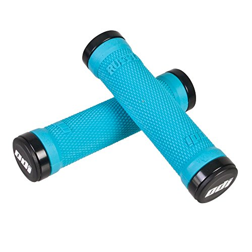 ODI Ruffian Bike Lock-On Handlebar Grips - Aqua/Black