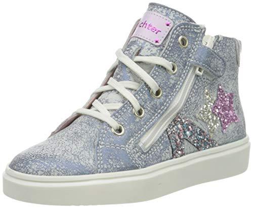 Richter Kinderschuhe Mädchen Flora Star Hohe Sneaker, Blau (Atlantic/Silver/Cand 7201), 33 EU