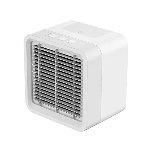 AIJIANG Ventilador humidificador Mini Refrigerador Aire Portátil, Acondicionador Aire USB Refrigerador Espacio Personal Ventilador Ventilador Refrigeración Por Aire Ventilador Recargable Escritorio En