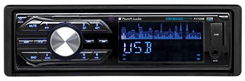 Planet Audio P375MB Single-Din MECH-LESS Multimedia Player, no CD or DVD , Receiver, Bluetooth, Detachable Front Panel, Wireless Remote