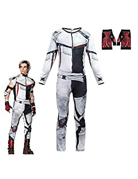 Jay Carlos Descendants 3 Costumes for Boys Jumpsuit Halloween Christmas Party Cosplay Outfits with Gloves  color-1 10-12 Years