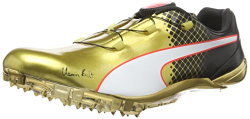 Puma Puma Unisex-Erwachsene Evospeed DISC Bolt Tricks Laufschuhe, Gold (Gold Black 01), 47