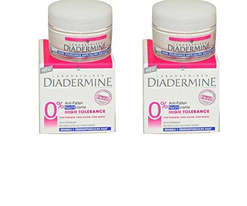 2x Diadermine High Tolerance Anti-Falten [ Nachtcreme ] Tiegel - 50ml