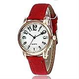 DECTN orologio da polso Orologio da donna nuovo di vendita caldo Cinturino moda Vetro a forma di diamante Superficie digitale Casual Quarzo Tavolo Liquore rosso