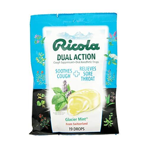 Ricola Extra Strength Cough Suppressant Drops, Glacier Mint, 19 Drops