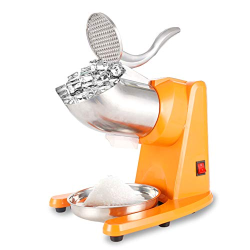 YANXS Trituradora de Hielo Picadora de Hielo Máquina de Afeitar de Hielo de Calidad Industrial Comercial, Cuchillo Doble Eléctrico Espesor Ajustable Máquina de Fabricación de Cono de Nieve 95kg / HR