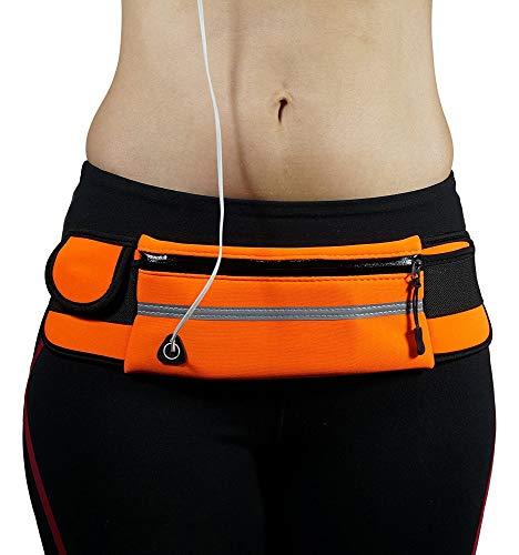 AIKES - Riñonera impermeable con banda de goma ajustable para correr, con...